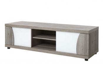 Meuble TV Karim 150cm - brun/blanc