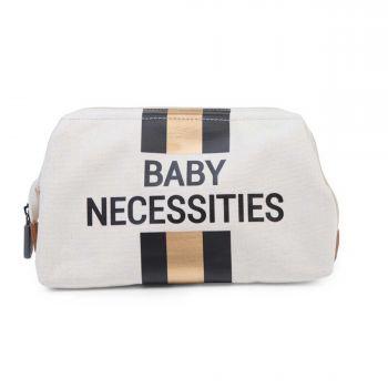 Trousse de toilette Baby Necessities avec rayures - écru/noir