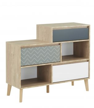 Commode Lina - 3 tiroirs et 2 niches