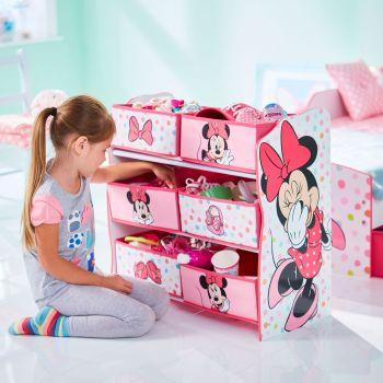 Meuble de rangement Minnie Mouse 6 compartiments