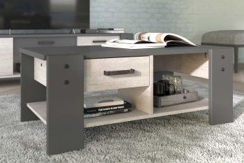 Table basse Vienna avec rangement 101x54 - gris