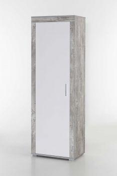 Garde-robe Lake 1 porte - blanc/béton