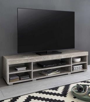 Meuble TV Flint 140cm - blanc/béton