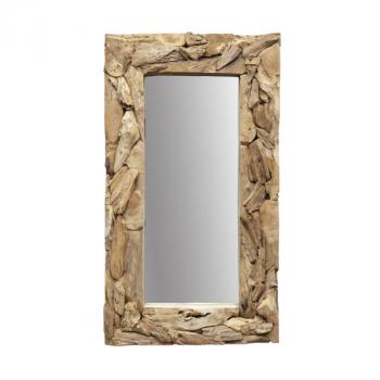 Miroir mural Root 160x90cm - teck/bois de racine