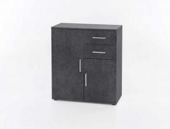 Bahut Denise 2 portes & 2 tiroirs - gris graphite