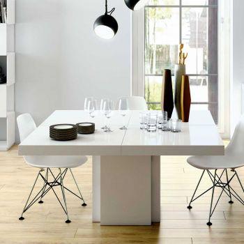 Table à manger Dusk 130x130 - blanc