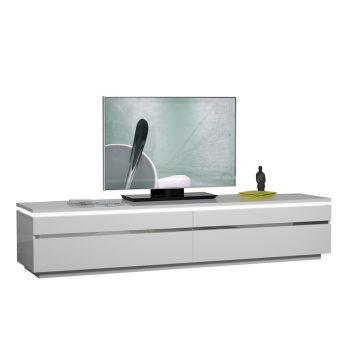 Meuble TV Elif 220cm - blanc brillant