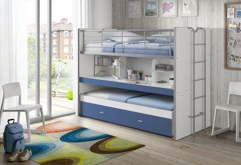 Lit mezzanine Bonny 80 - bleu