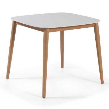 Table de jardin Helsinki 90x90 - blanc