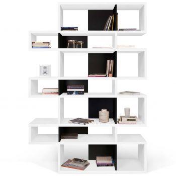 Bibliothèque Lisbon 3 - blanc/noir