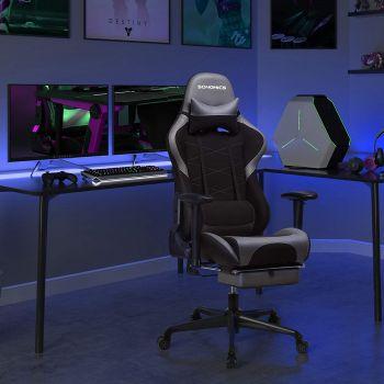 Chaise gamer Linx - noir/gris
