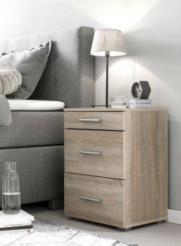 Table de chevet Bedside 3 tiroirs - chêne