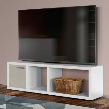 Meuble TV Berkeley 150cm - blanc