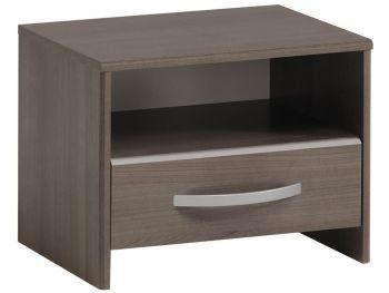 Table de chevet Evo avec tiroir - noyer