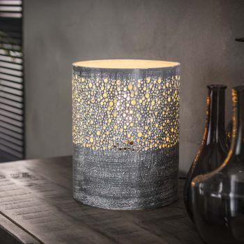 Lampe d'appoint Sillo ø20cm cilindre - gris