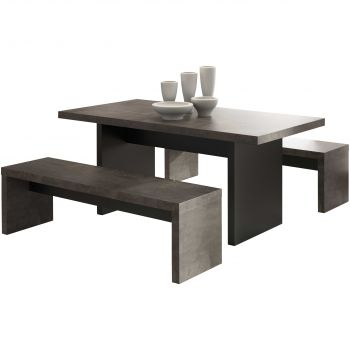 Ensemble table + 2 bancs Delta