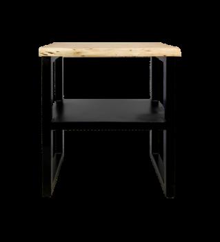 Table d'appoint SoHo à étagère - acacia/ijzer