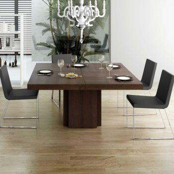 Table à manger Dusk 130x130 - brun