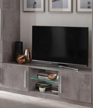 Meuble TV Greta 156 cm - béton