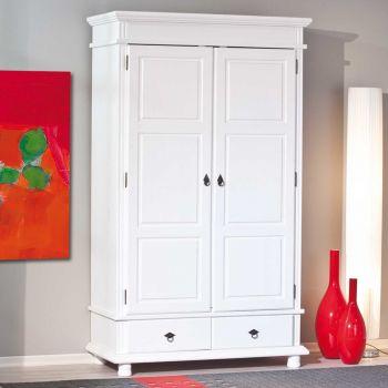 Armoire Danz 116cm avec 2 portes - blanc