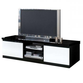 Meuble TV Roma 150cm - noir/blanc
