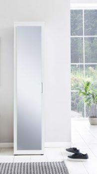 Armoire Hidde avec porte miroir - blanc