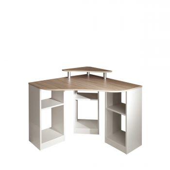 Bureau d'angle Corner - chêne/blanc