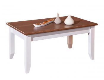 Table basse Westerland 90x55 campagne - bruin/blanc