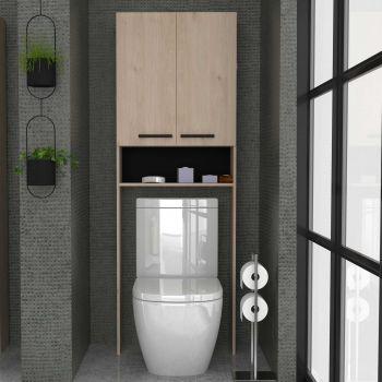 Entourage multifonction WC ou machine à laver Dotan - chêne