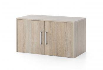 Surmeuble/meuble suspendu Maxi-office 2 portes - chêne sonoma