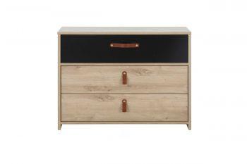 Commode Liam 3 tiroirs - chêne artisan
