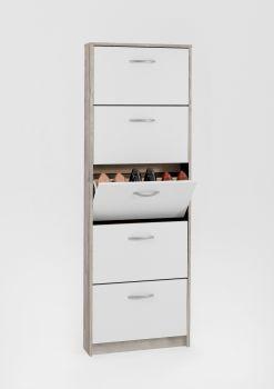 Armoire à chaussures Step à 5 tiroirs - chêne gris/blanc