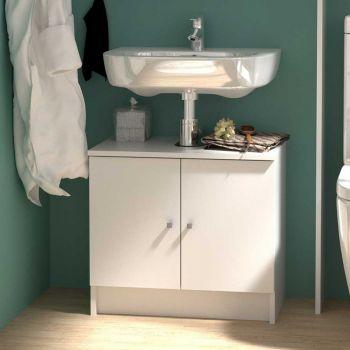 Meuble sous lavabo Fares 59cm - blanc
