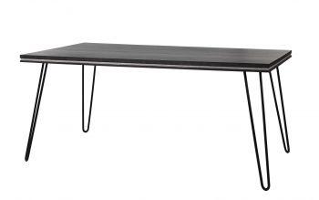 Table à manger Clip 180x90 industriel - gris