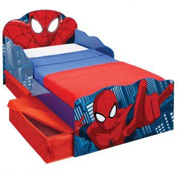 Lit junior Spider-Man avec tiroirs de lit