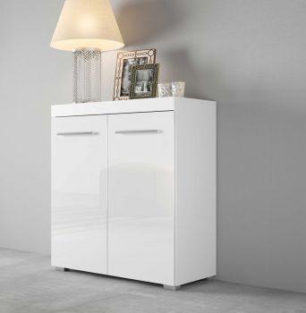 Bahut Tristan 2 portes - blanc brillant