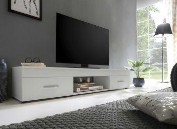 Meuble TV Sami 2 tiroirs 160cm - blanc