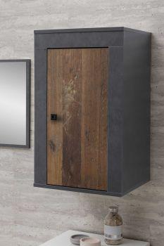 Armoire de salle de bains suspendue Rutger - bois/graphite