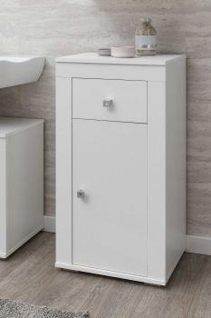 Armoire de salle de bains Rutger 1 tiroir & 1 porte - blanc