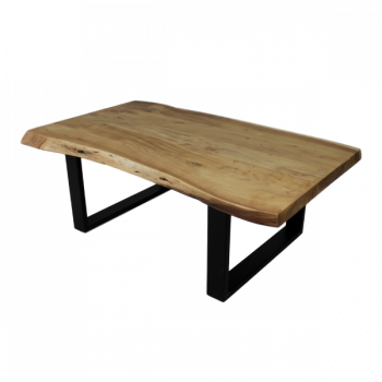 Table basse SoHo 120cm cadre U - acacia/fer