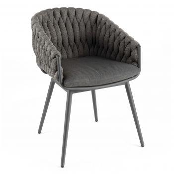 Chaise de jardin Gabon - anthracite/gris foncé