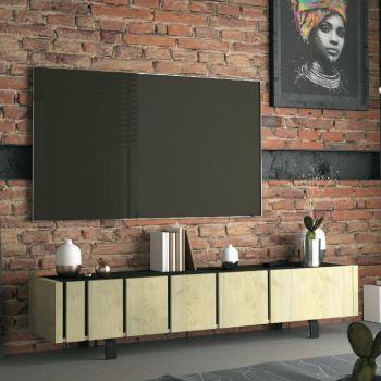 Meuble TV Rufus 190cm à 3 portes - chêne