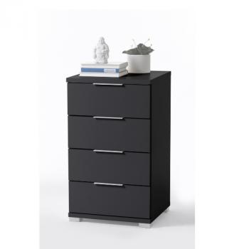 Table de chevet Nacho 46cm avec 4 tiroirs - noir