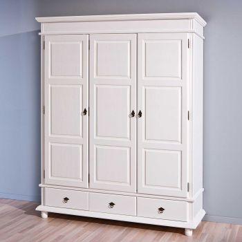 Armoire Danz 166cm avec 3 portes - blanc