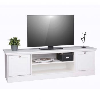 Meuble TV Landwood 160cm campagne - blanc