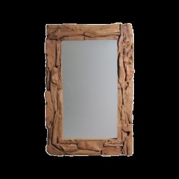Miroir mural Root 120x80cm - teck/bois de racine
