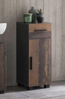 Armoire salle de bains Casa - bois/graphite