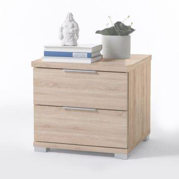 Table de chevet Nacho 46cm avec 2 tiroirs - chêne sonoma