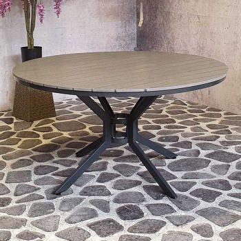 Table de jardin Jersey ø140cm - gris