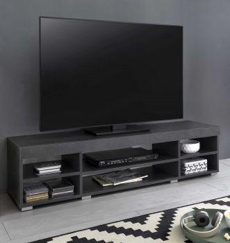 Meuble TV Flint 140cm - blanc/gris graphite